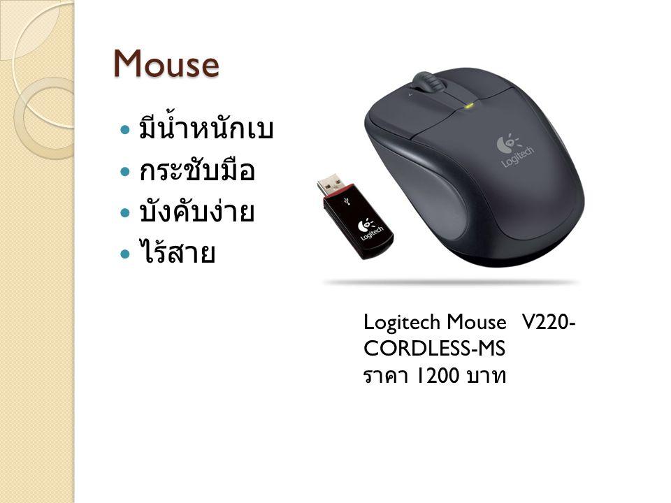 Mouse มีน้ำหนักเบา กระชับมือ บังคับง่าย ไร้สาย