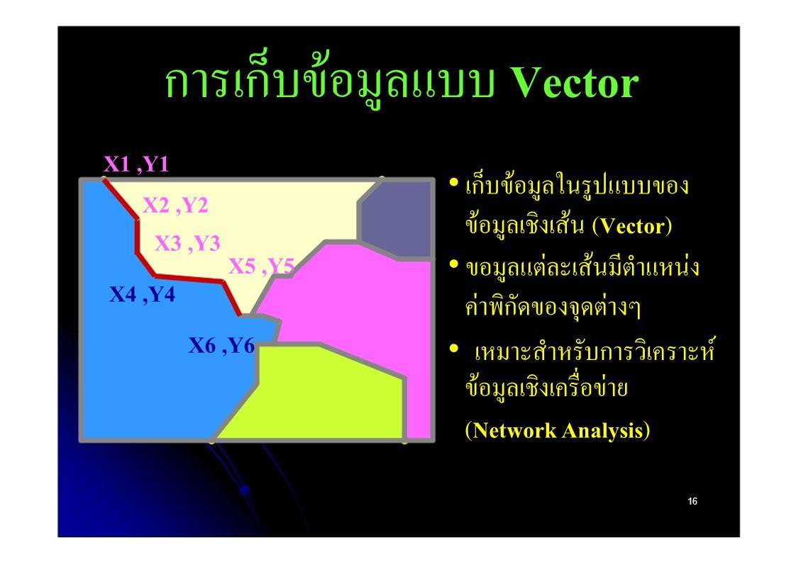 การเก็บข้อมูลแบบ Vector