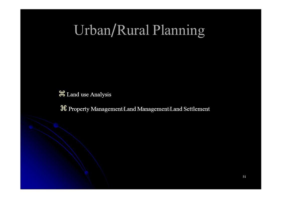 Urban/Rural Planning z Land use Analysis