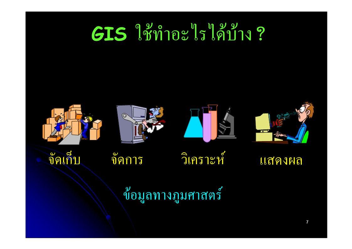 GIS ใช้ทำอะไรได้บ้าง จัดเก็บ จัดการ วิเคราะห์ แสดงผล
