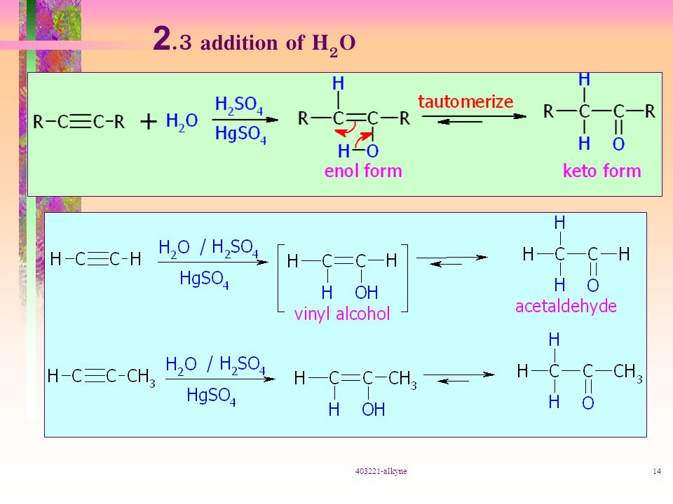 2.3 addition of H2O 403221-alkyne