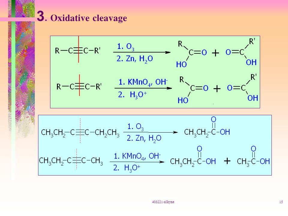3. Oxidative cleavage 403221-alkyne