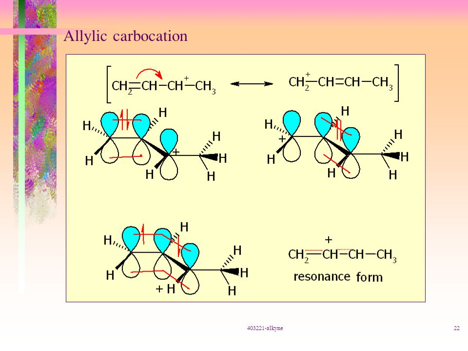 Allylic carbocation 403221-alkyne