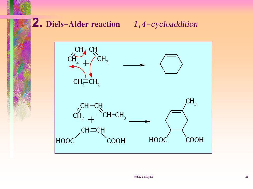 2. Diels-Alder reaction 1,4-cycloaddition