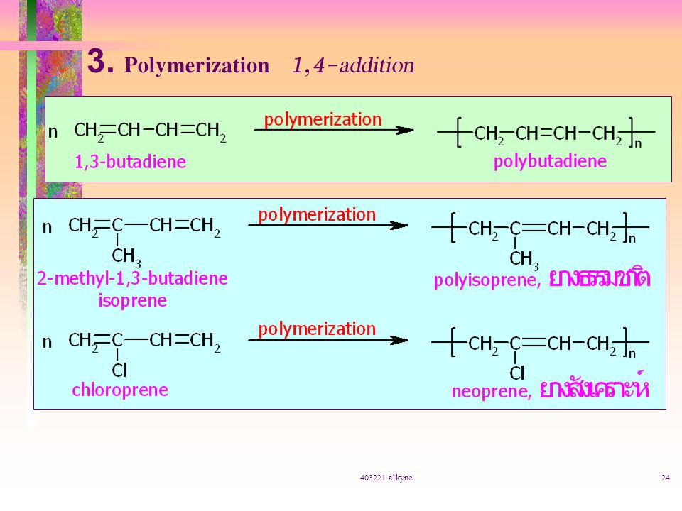 3. Polymerization 1,4-addition