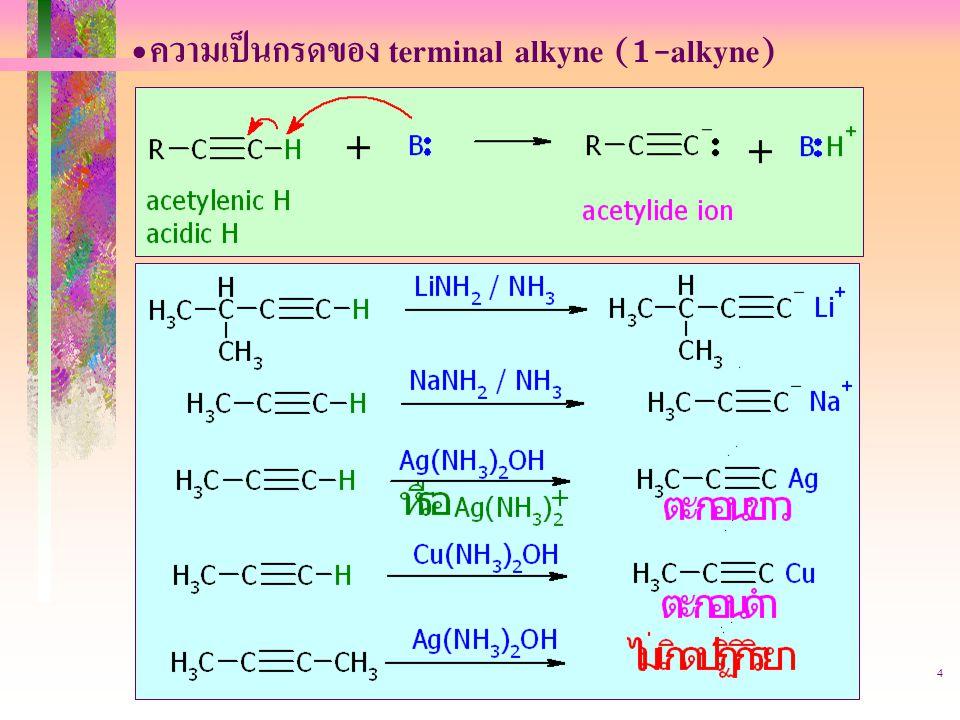 ความเป็นกรดของ terminal alkyne (1-alkyne)