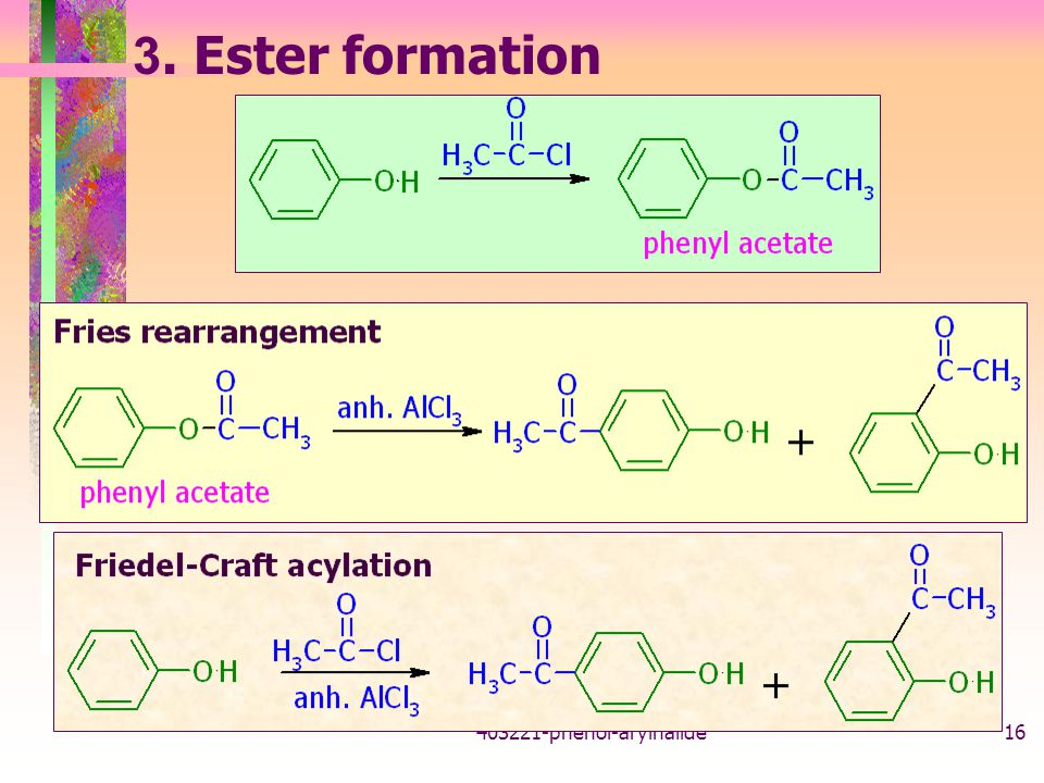 3. Ester formation 403221-phenol-arylhalide
