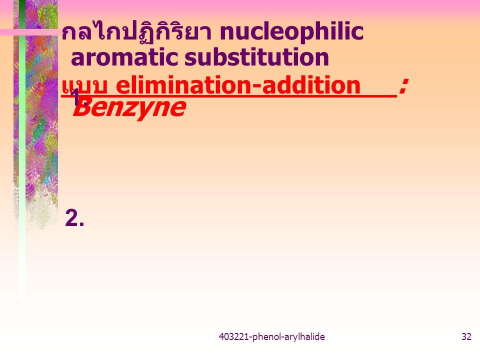 กลไกปฏิกิริยา nucleophilic aromatic substitution