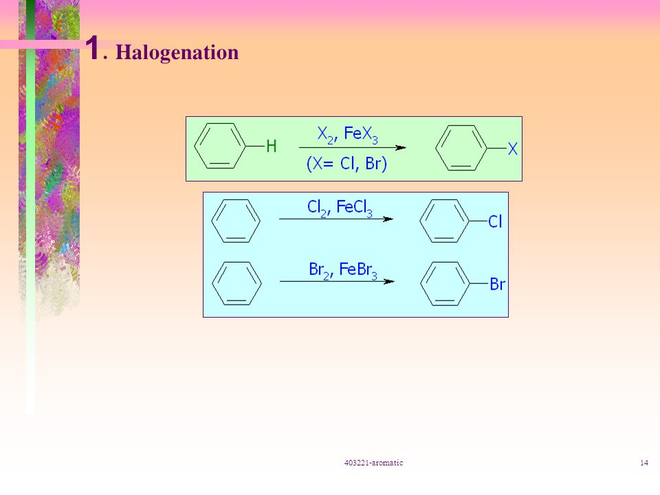 1. Halogenation 403221-aromatic