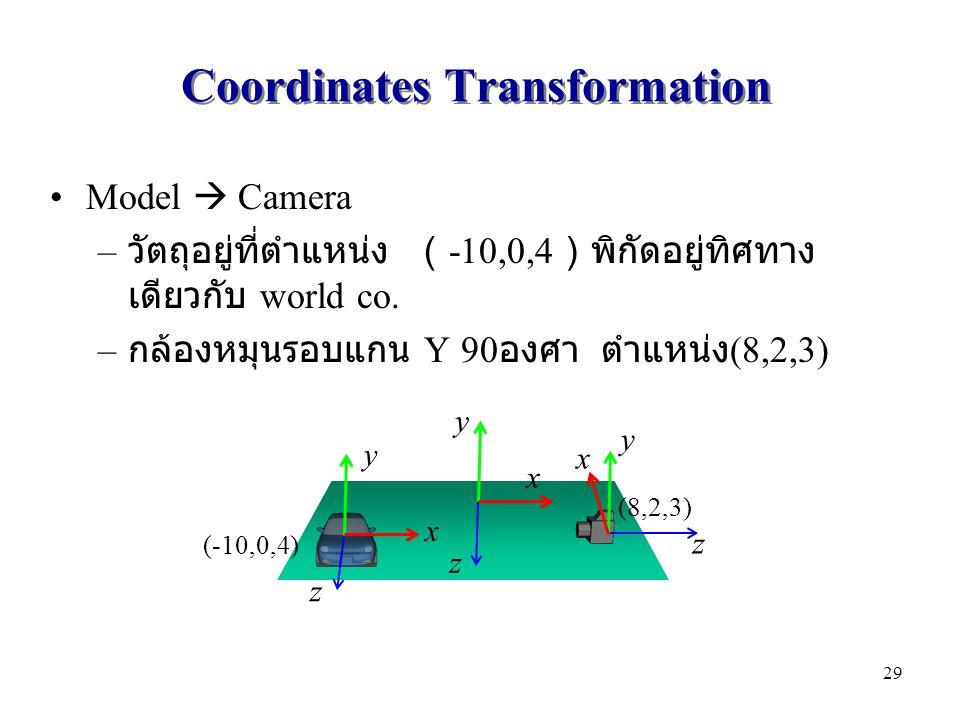 Coordinates Transformation