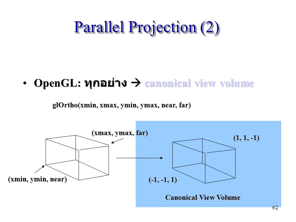 Parallel Projection (2)