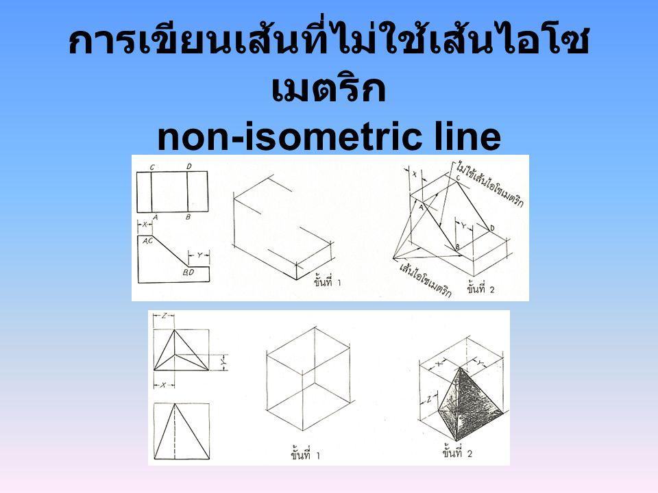 การเขียนเส้นที่ไม่ใช้เส้นไอโซเมตริก non-isometric line