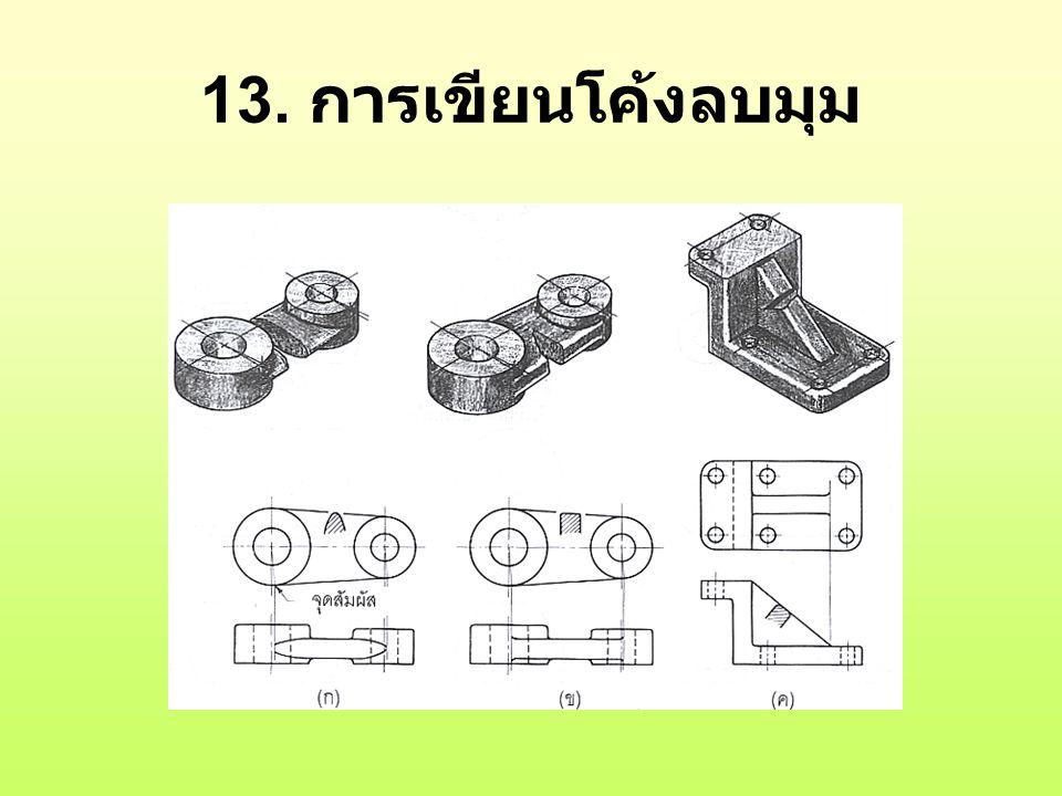 13. การเขียนโค้งลบมุม