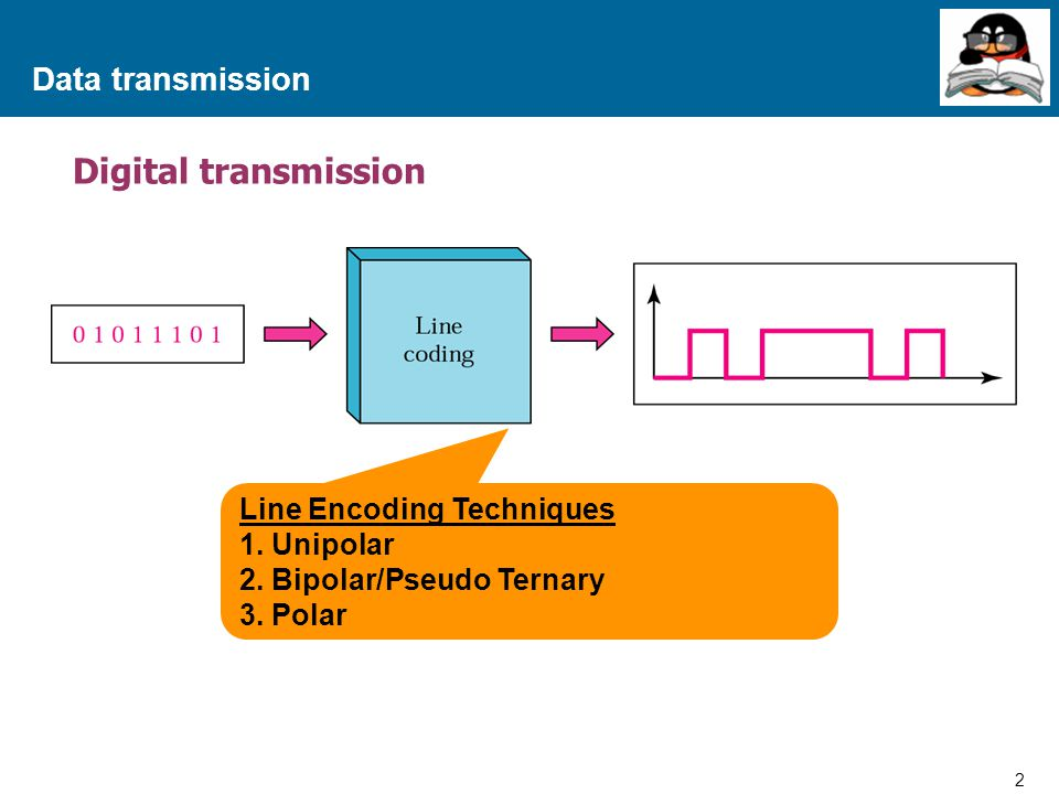 Digital transmission Data transmission Line Encoding Techniques