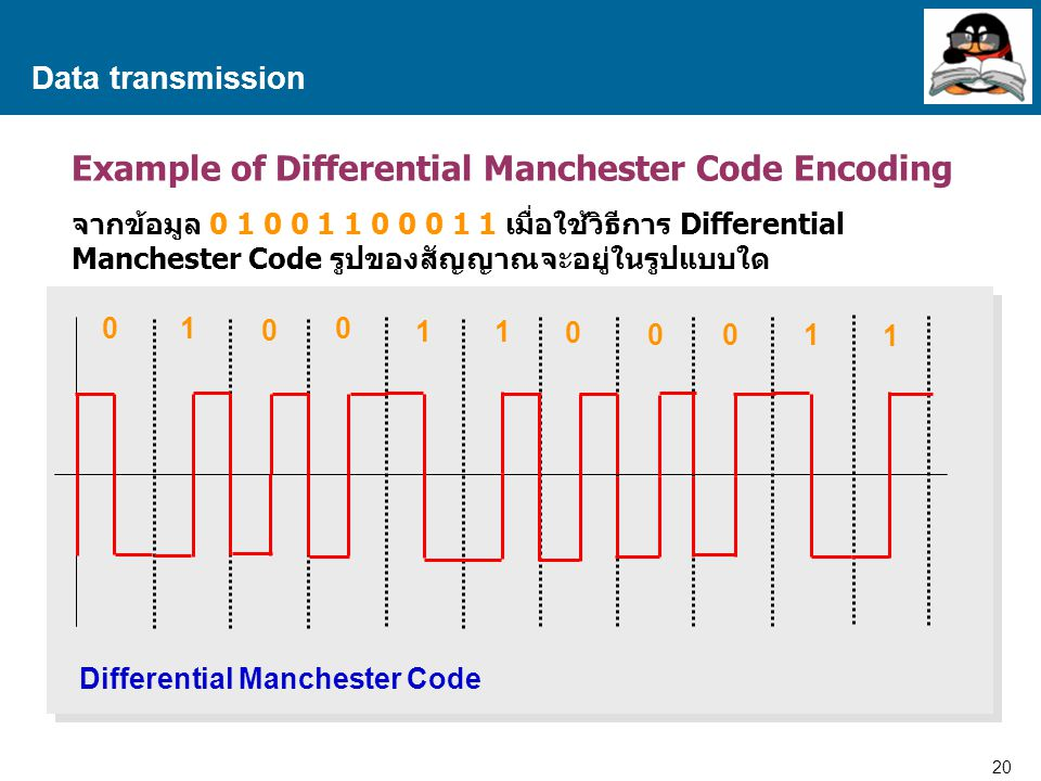 Example of Differential Manchester Code Encoding