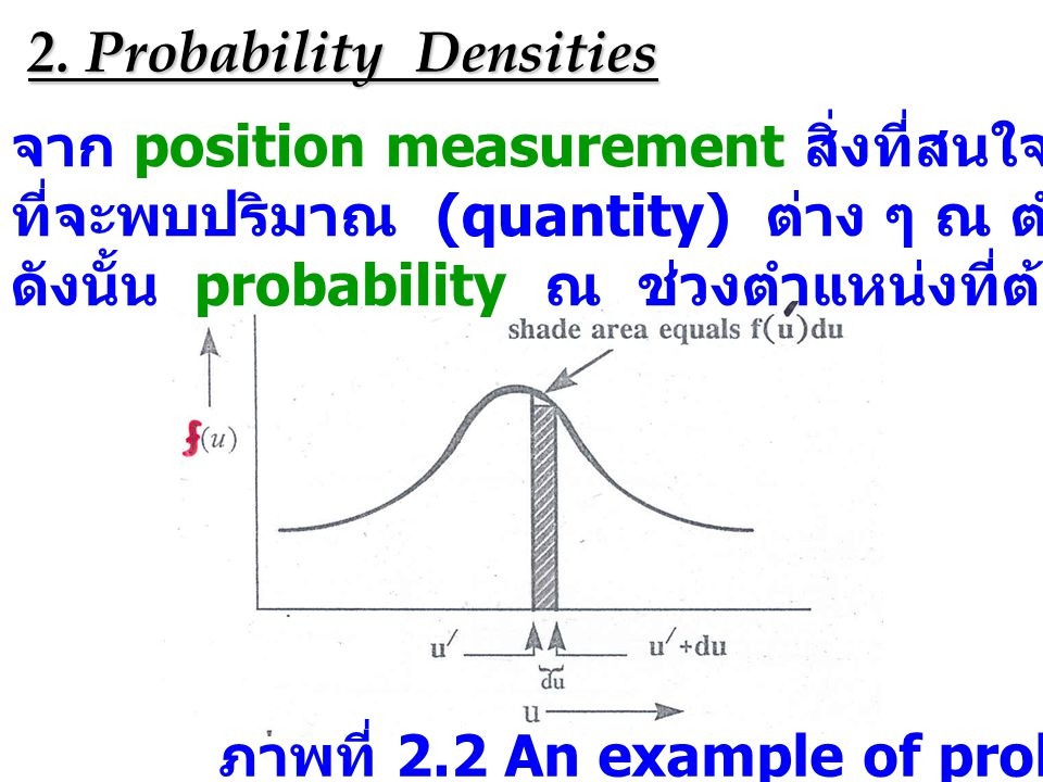 2. Probability Densities
