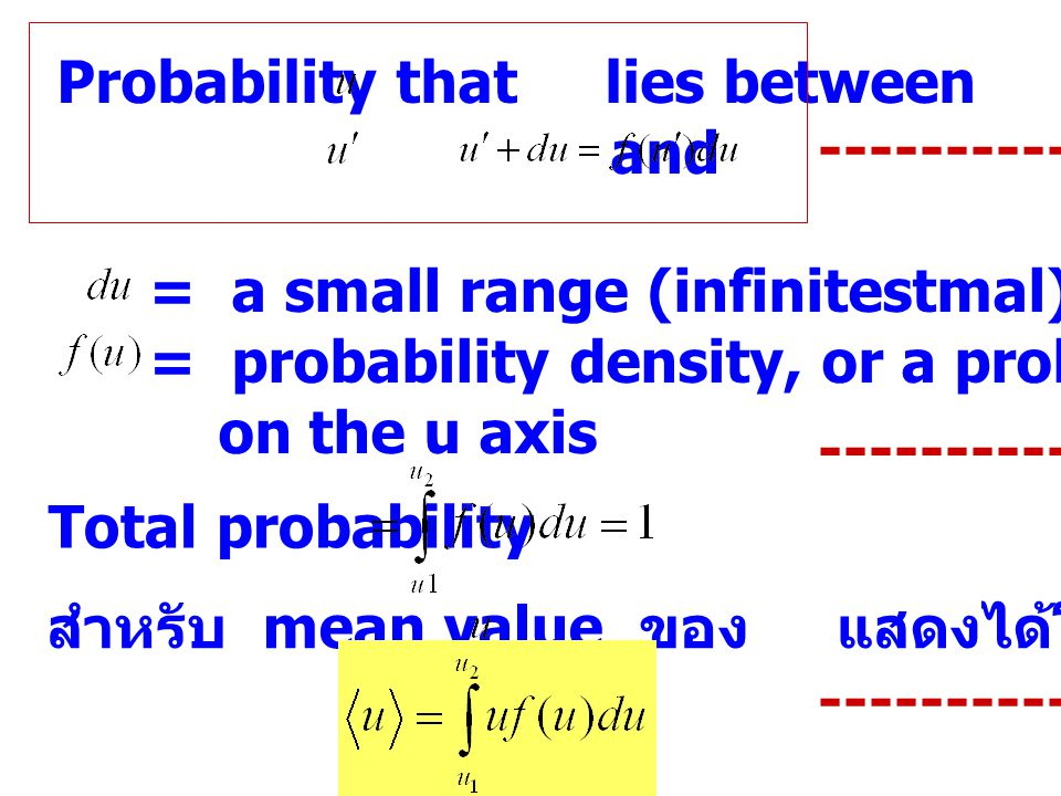 Probability that lies between