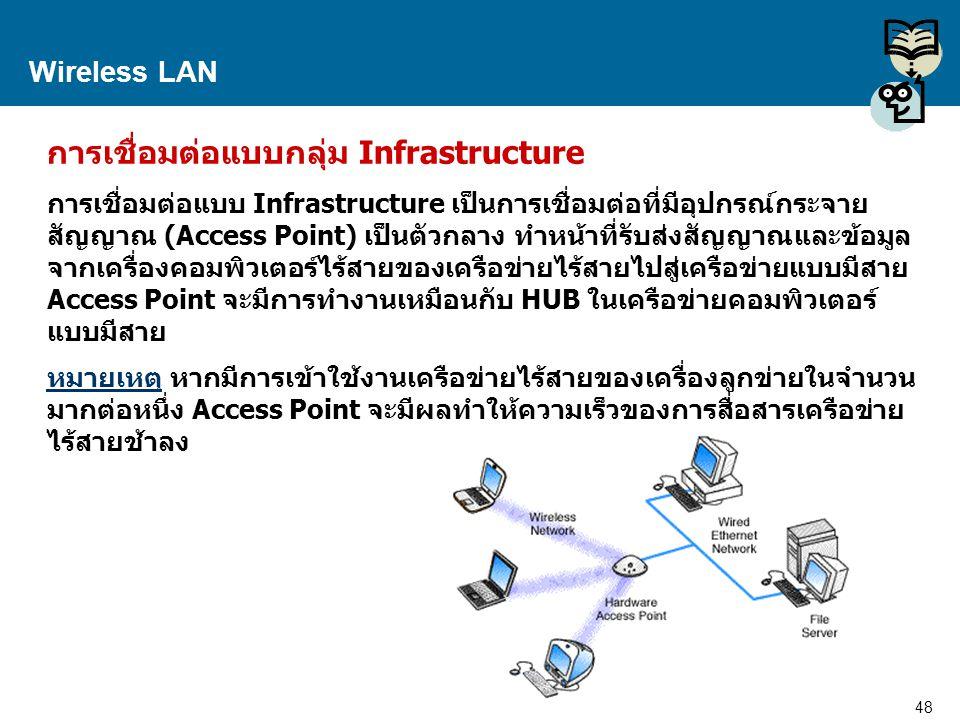 การเชื่อมต่อแบบกลุ่ม Infrastructure
