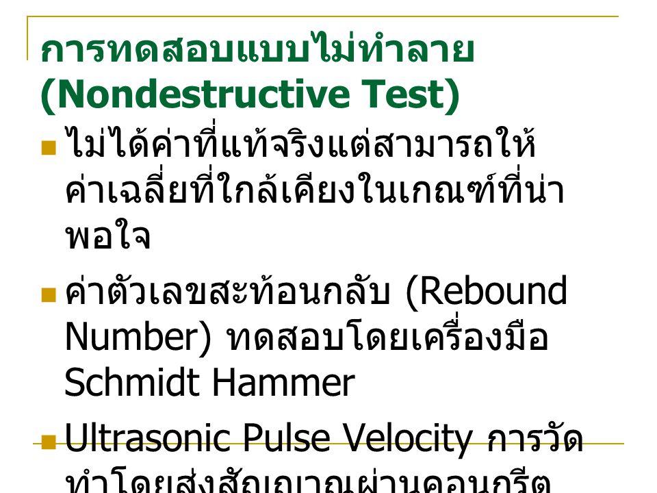 การทดสอบแบบไม่ทำลาย (Nondestructive Test)