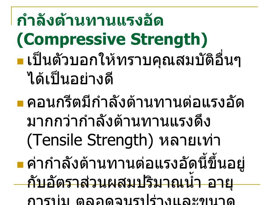 กำลังต้านทานแรงอัด (Compressive Strength)