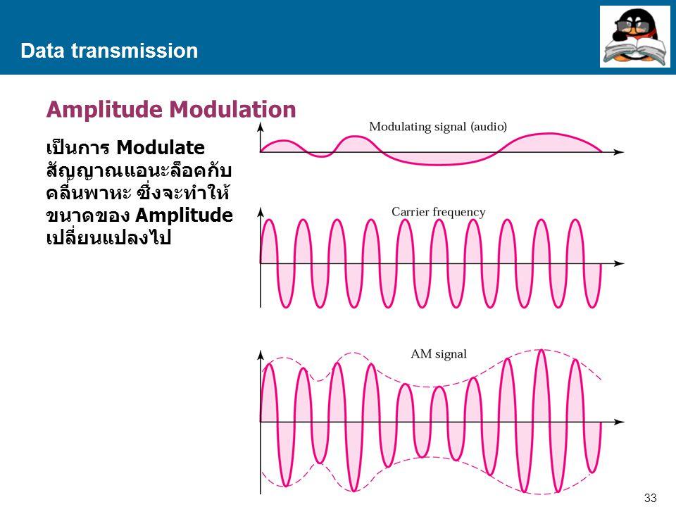 Amplitude Modulation Data transmission