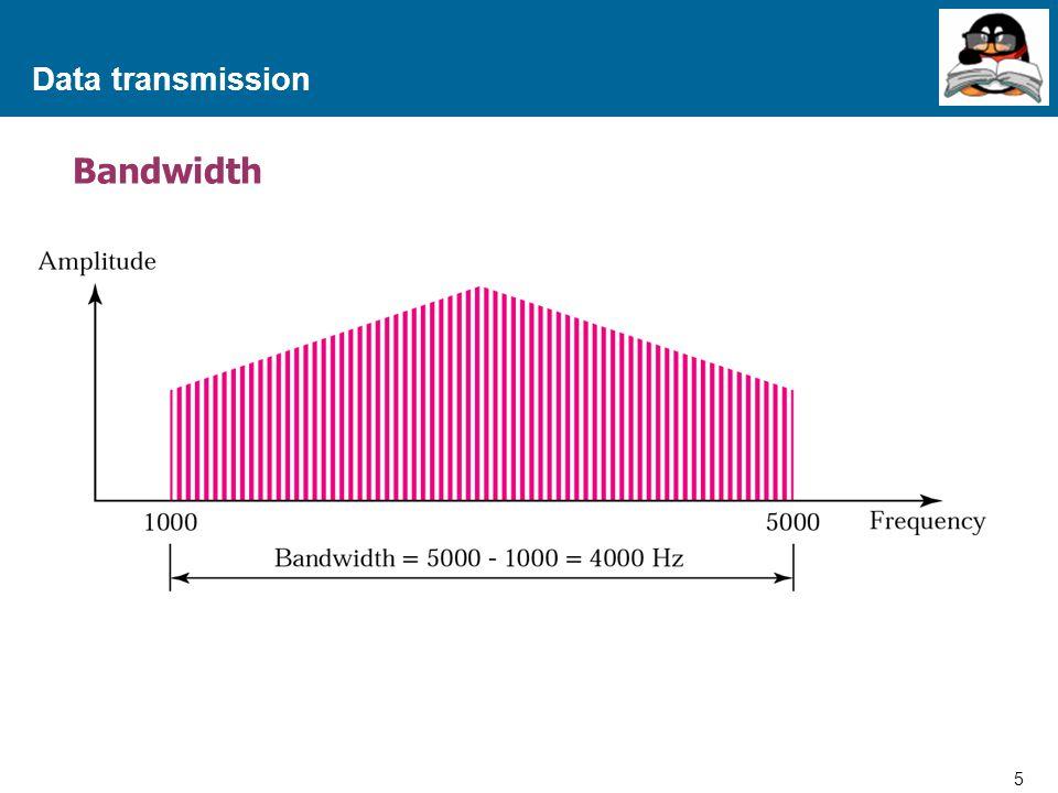 Data transmission Bandwidth