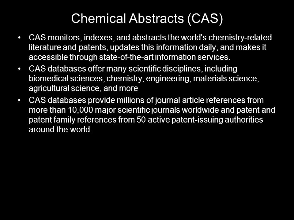 Chemical Abstracts (CAS)