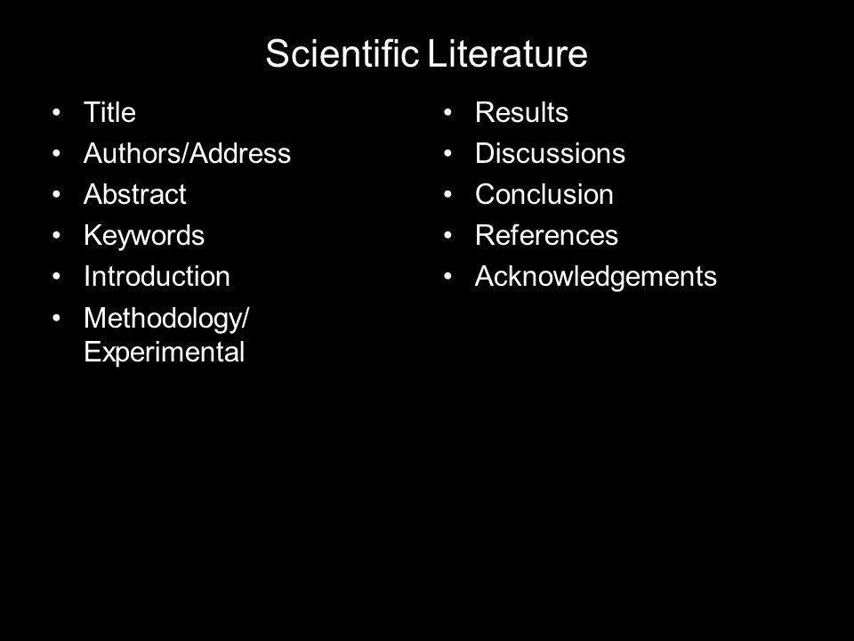 Scientific Literature