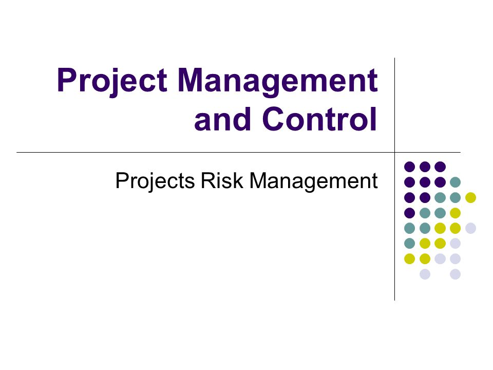 Project Management and Control