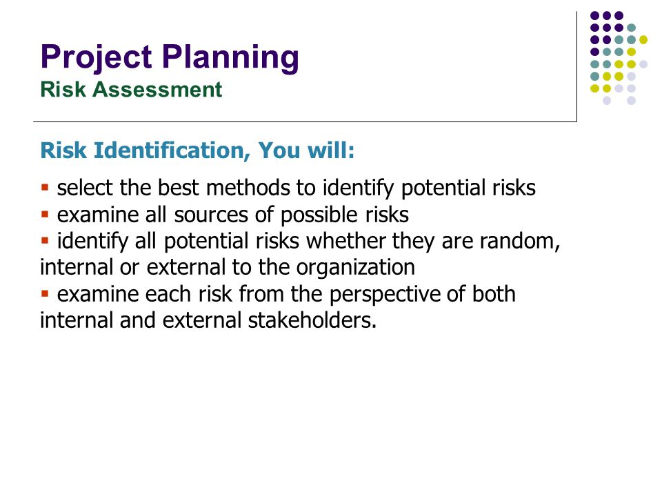 Project Planning Risk Assessment