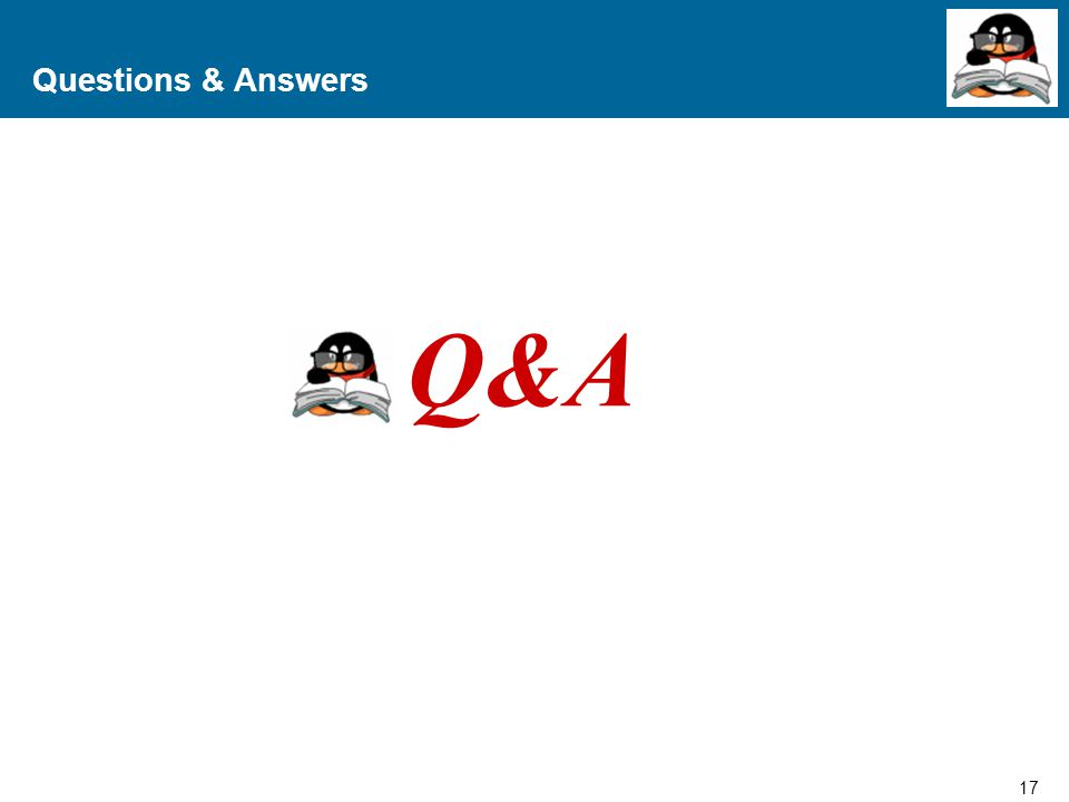 Questions & Answers Q&A