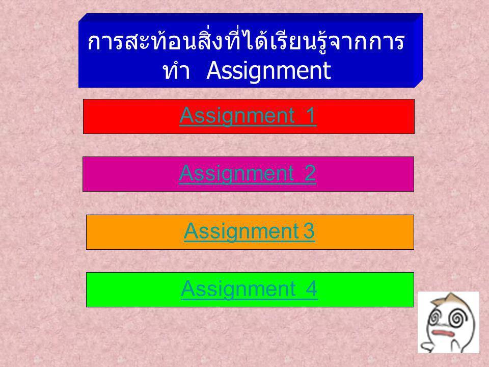 การสะท้อนสิ่งที่ได้เรียนรู้จากการทำ Assignment