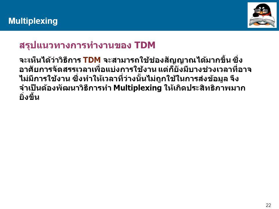 สรุปแนวทางการทำงานของ TDM