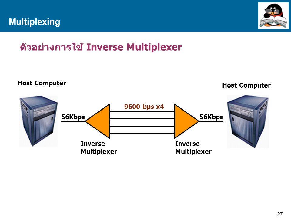 ตัวอย่างการใช้ Inverse Multiplexer
