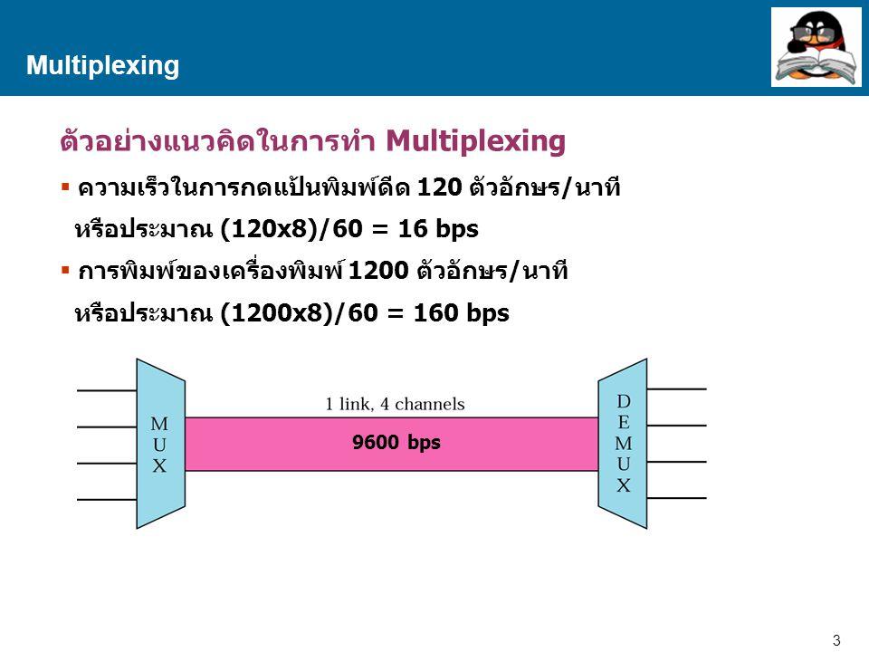 ตัวอย่างแนวคิดในการทำ Multiplexing