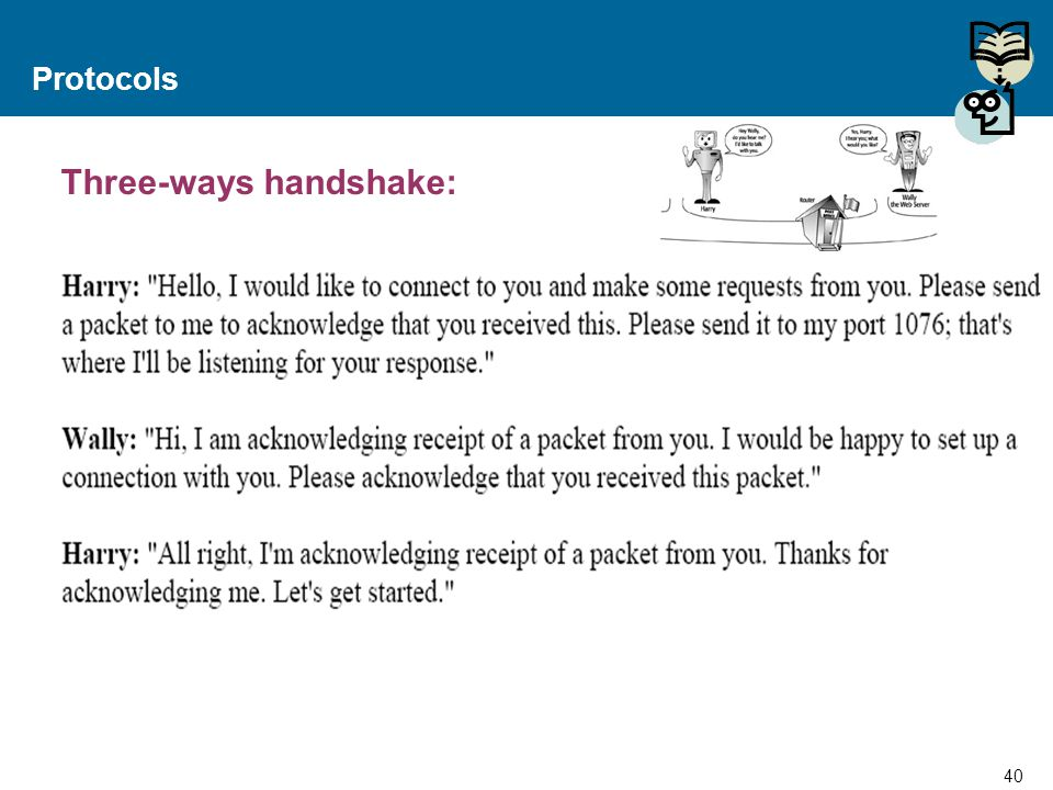 Three-ways handshake: