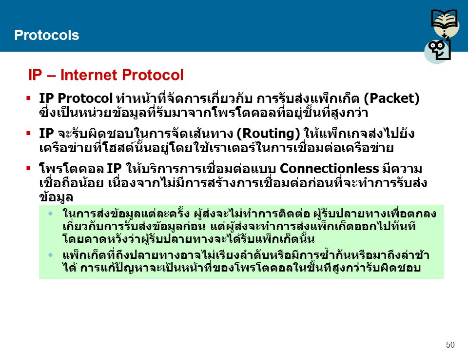 IP – Internet Protocol Protocols