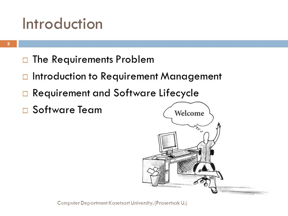Introduction The Requirements Problem