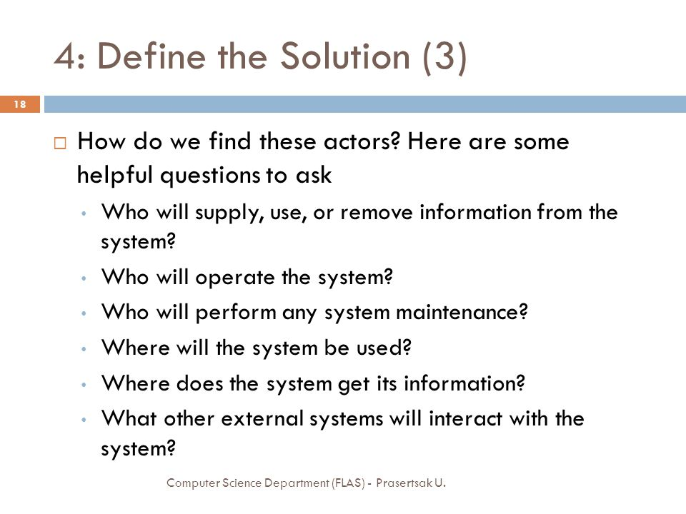 4: Define the Solution (3)