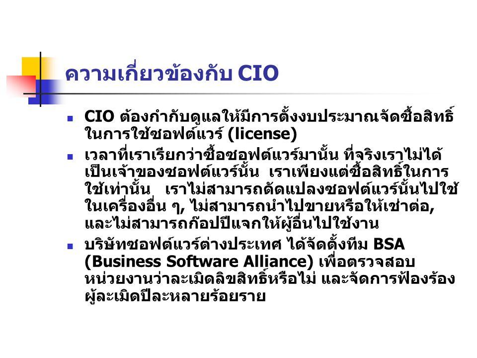 ความเกี่ยวข้องกับ CIO
