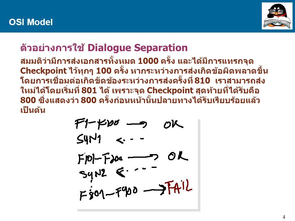ตัวอย่างการใช้ Dialogue Separation