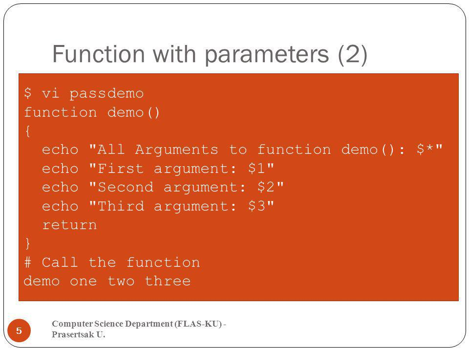 Function with parameters (2)