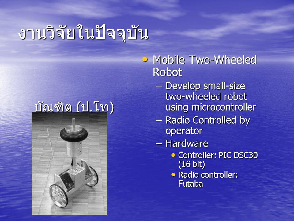 งานวิจัยในปัจจุบัน บัณฑิต (ป.โท) Mobile Two-Wheeled Robot