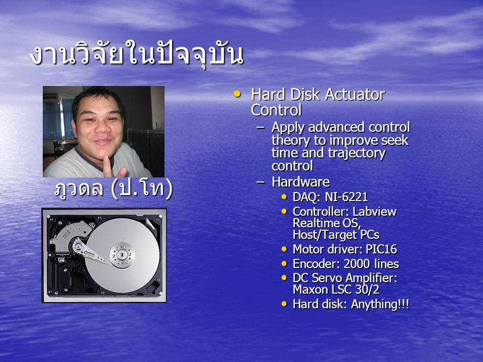 งานวิจัยในปัจจุบัน ภูวดล (ป.โท) Hard Disk Actuator Control