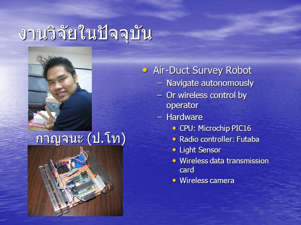 งานวิจัยในปัจจุบัน กาญจนะ (ป.โท) Air-Duct Survey Robot