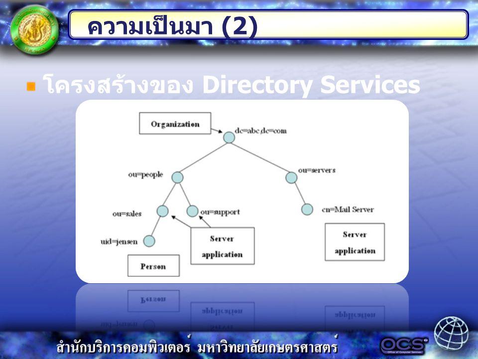 โครงสร้างของ Directory Services