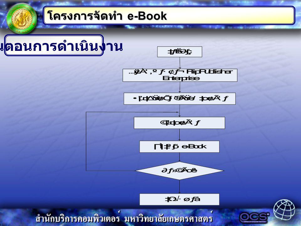 โครงการจัดทำ e-Book ขั้นตอนการดำเนินงาน