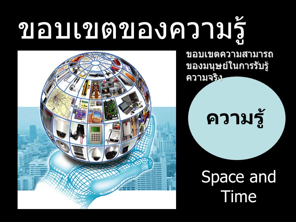 ขอบเขตของความรู้ ความรู้ Space and Time