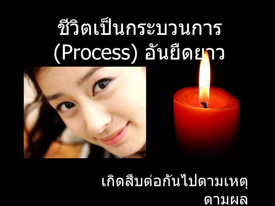 ชีวิตเป็นกระบวนการ (Process) อันยืดยาว