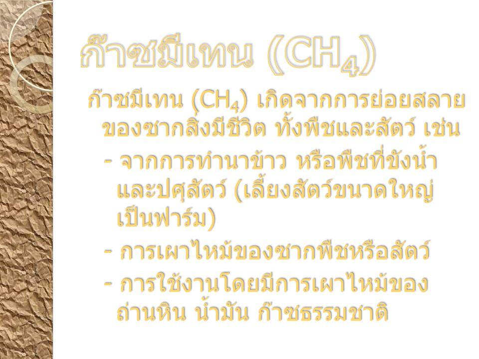ก๊าซมีเทน (CH4)